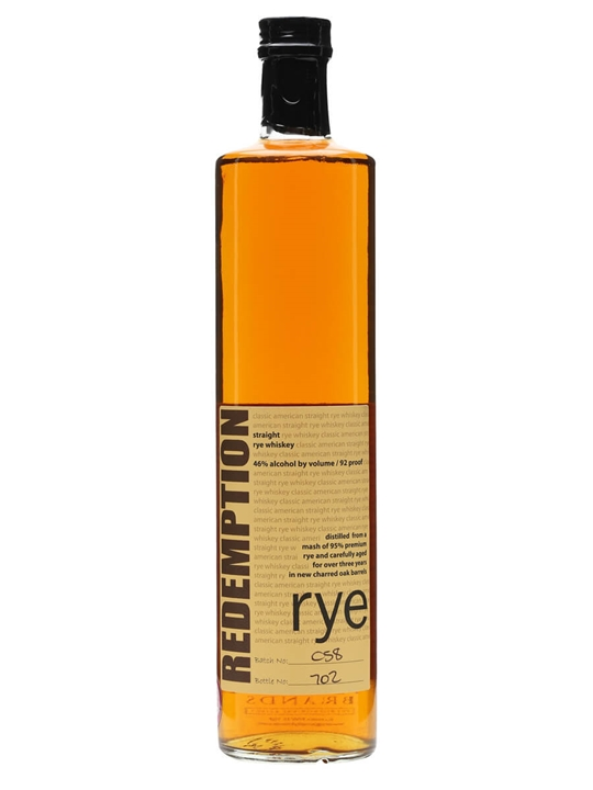 Redemption Rye Whiskey Small Batch Kentucky Straight Rye Whiskey