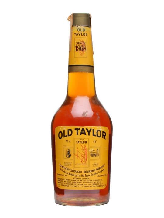 Old Taylor Straight Bourbon / Bot.1970s Kentucky Whisky
