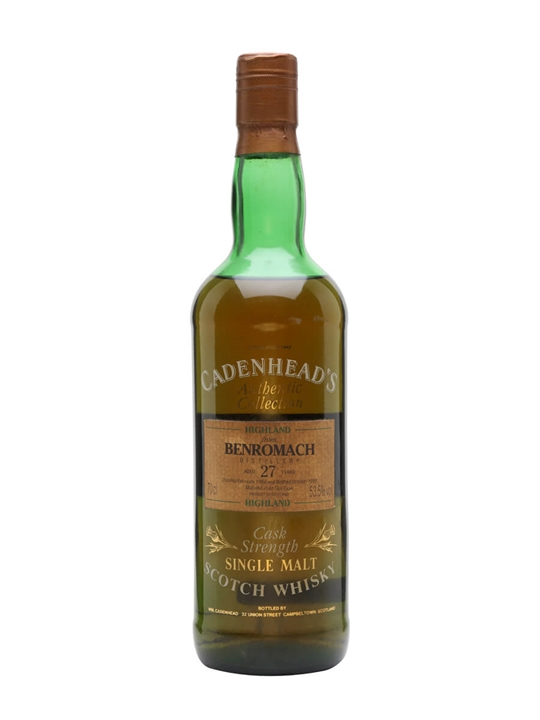 Benromach 1966 / 27 Year Old / Cadenhead's Speyside Whisky