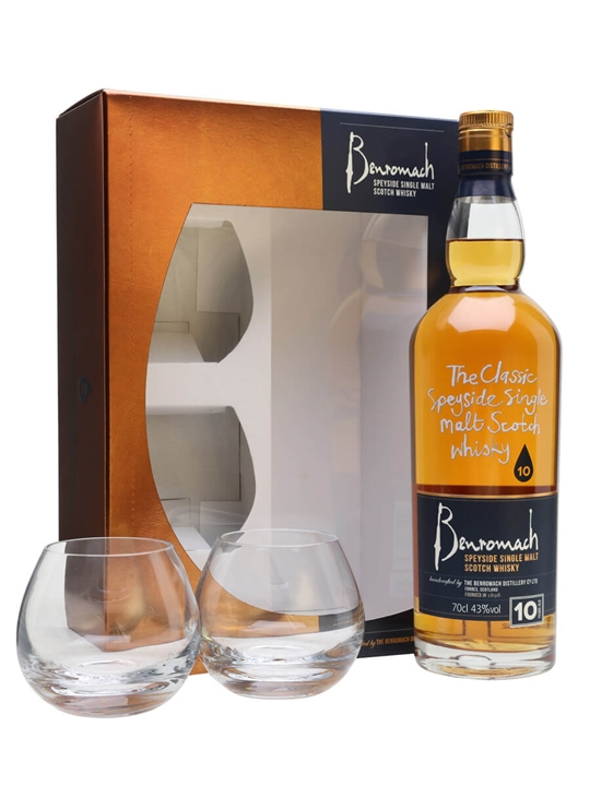 Benromach 10 Year Old Glass Pack Speyside Single Malt Scotch Whisky