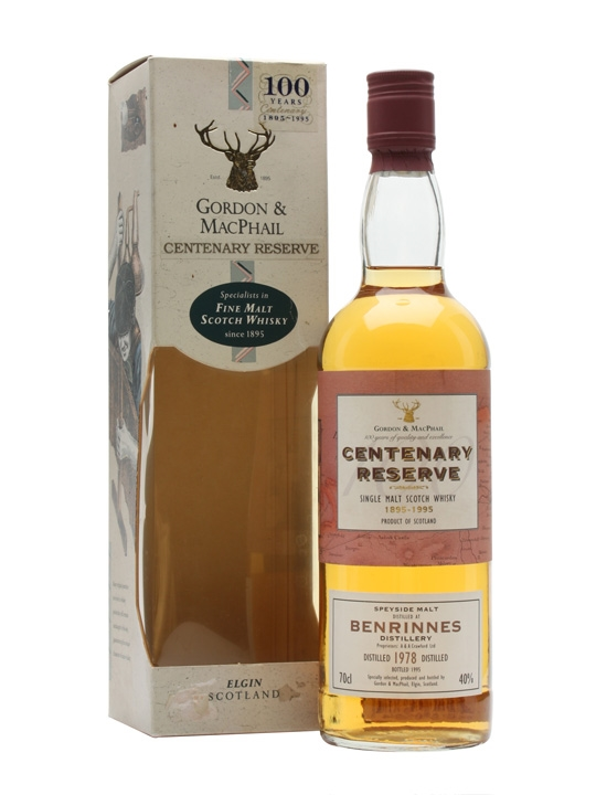 Benrinnes 1978 / Gordon & Macphail Speyside Single Malt Scotch Whisky