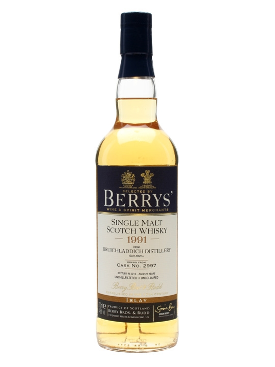 Bruichladdich 1991 / 21 Year Old / Cask #2997 / Berry Bros Islay Whisky