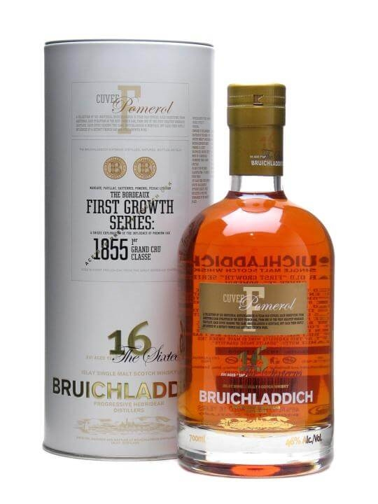 Bruichladdich 16 Year Old First Growth Pomerol Finish Islay Whisky