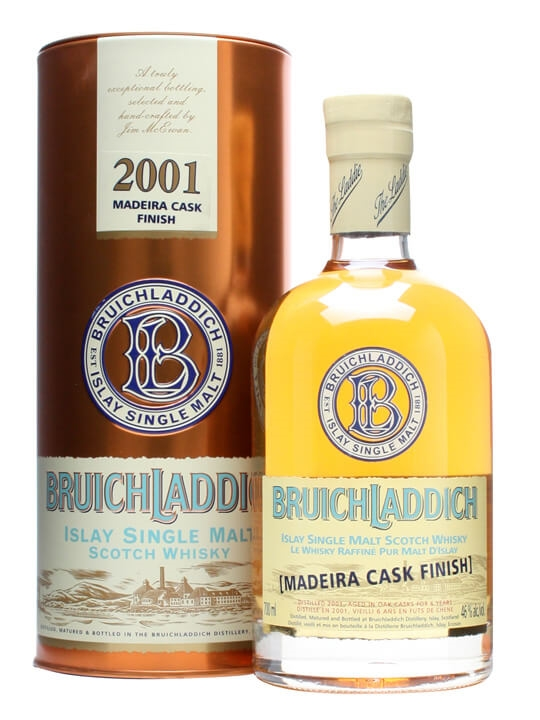Bruichladdich 2001 / Madeira Cask Finish Islay Whisky