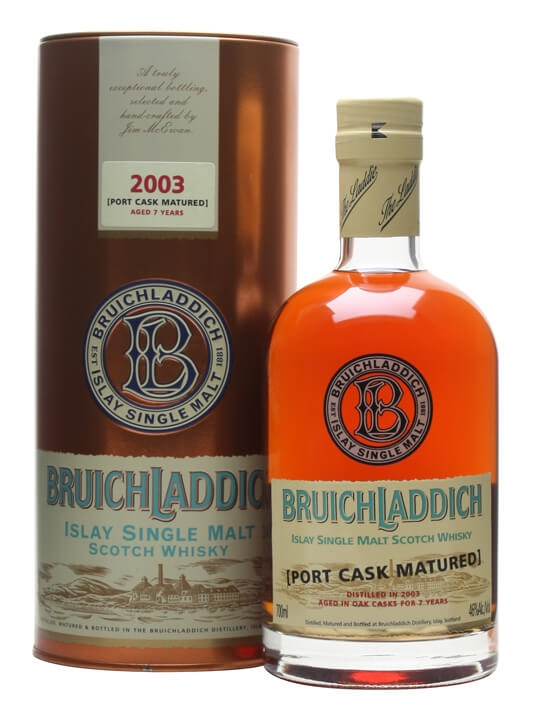 Bruichladdich 2003 / 7 Year Old / Port Matured Islay Whisky