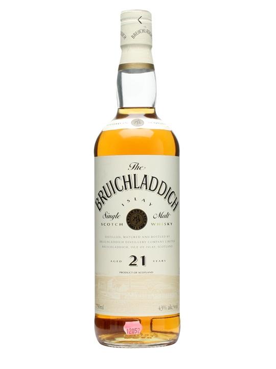 Bruichladdich 21 Year Old / Cream Label / Bot.1980s Islay Whisky