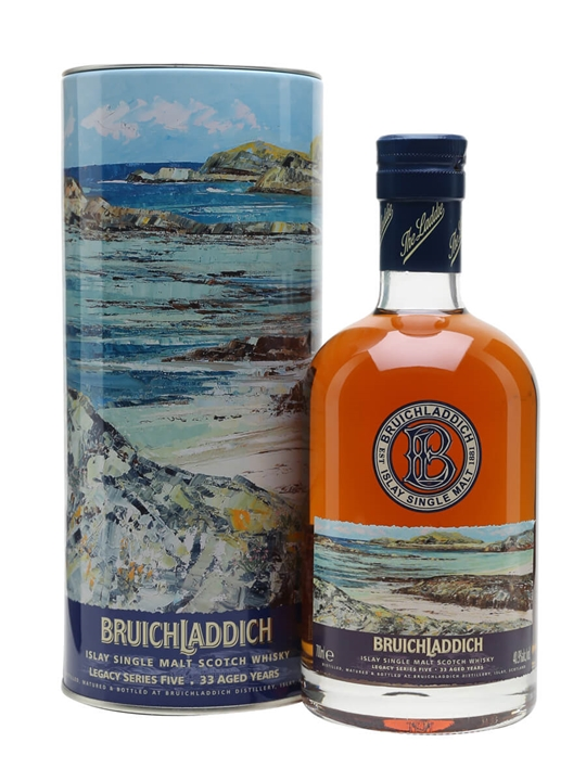 Bruichladdich 33 Year Old / Legacy 5 Islay Single Malt Scotch Whisky