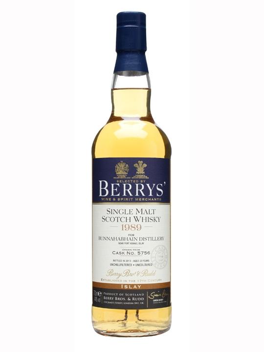 Bunnahabhain 1989 / 23 Year Old / Cask #5756 / Berry Bros Islay Whisky