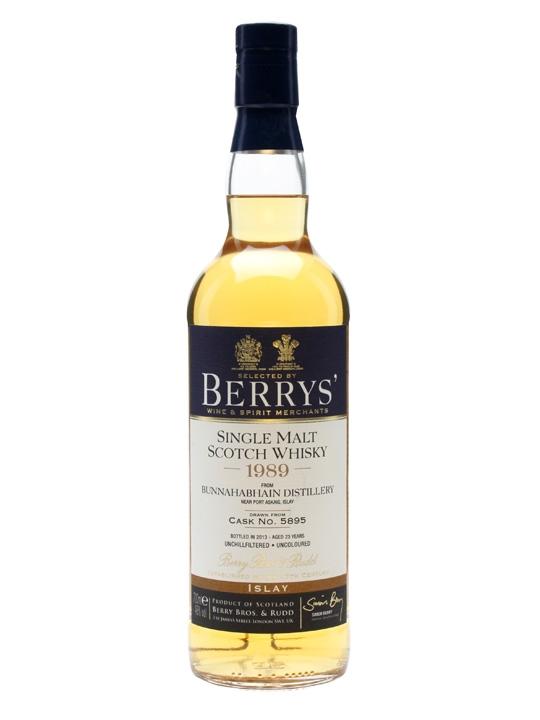 Bunnahabhain 1989 / 23 Year Old / Berry Brothers & Rudd Islay Whisky