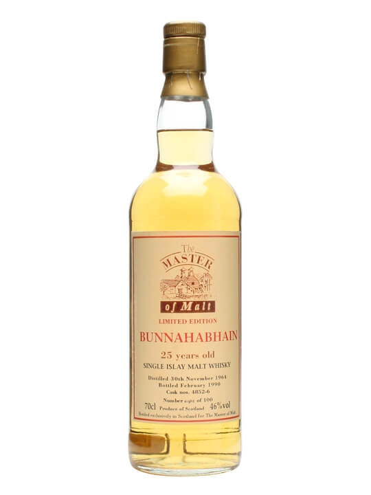 Bunnahabhain 1964 / 25 Year Old / The Master Of Malt Islay Whisky