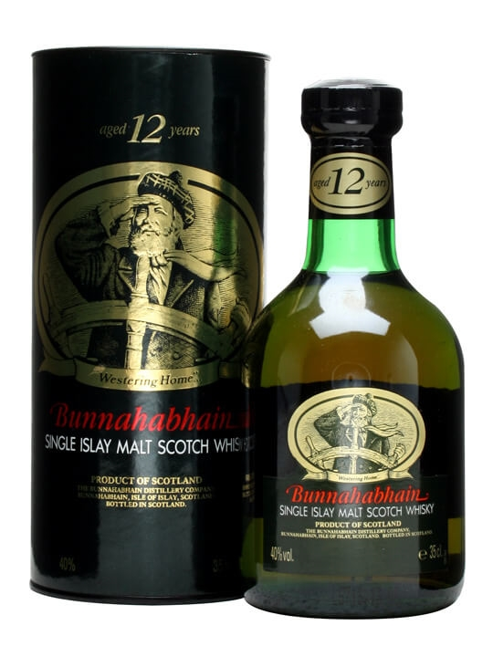 Bunnahabhain 12 Year Old / Old Presentation / Small Bottle Islay Whisky
