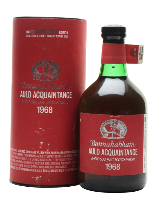 Bunnahabhain 1968 / Auld Acquaintance Islay Single Malt Scotch Whisky