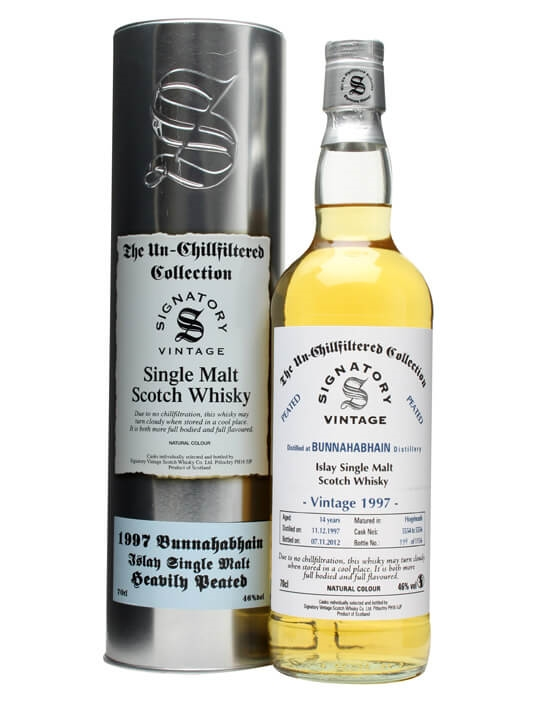 Bunnahabhain 1997 / 14 Year Old / Cask #5554-6 / Peated Islay Whisky
