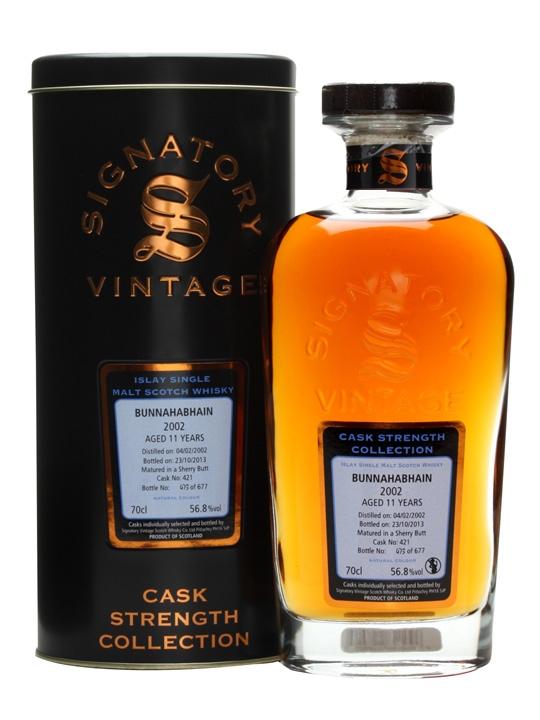 Bunnahabhain 2002 / 11 Year Old / Sherry Butt / Signatory Islay Whisky