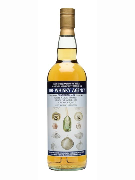 Bunnahabhain 1968 / 43 Year Old / The Whisky Agency Islay Whisky
