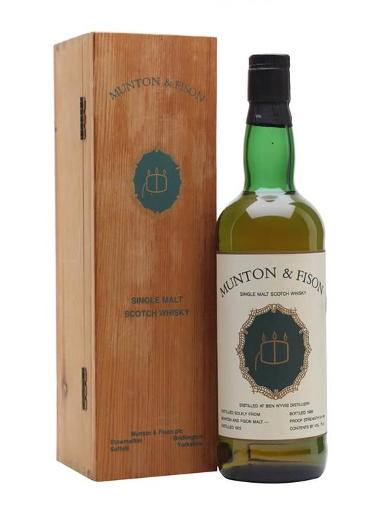 Ben Wyvis 1972 / Bot.1989 / Munton & Fison Highland Whisky