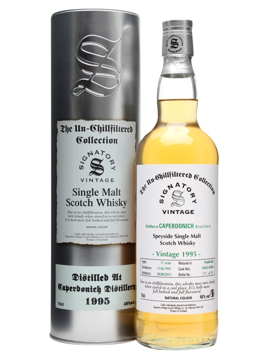 Caperdonich 1995 / 17 Year Old / Cask#95045+6 / Signatory Speyside Whisky