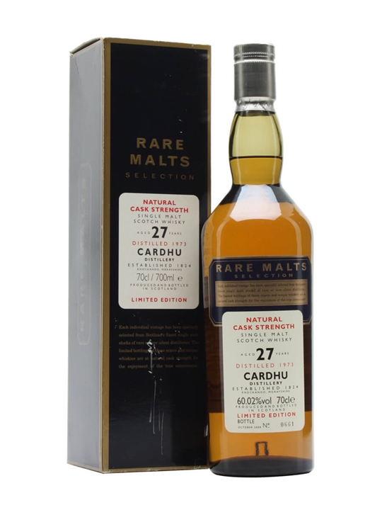 Cardhu 1973 / 27 Year Old Speyside Single Malt Scotch Whisky