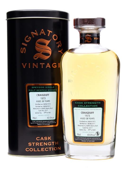 Craigduff 1973 / 38 Year Old / Sherry Cask #2517 / Signatory Speyside Whisky