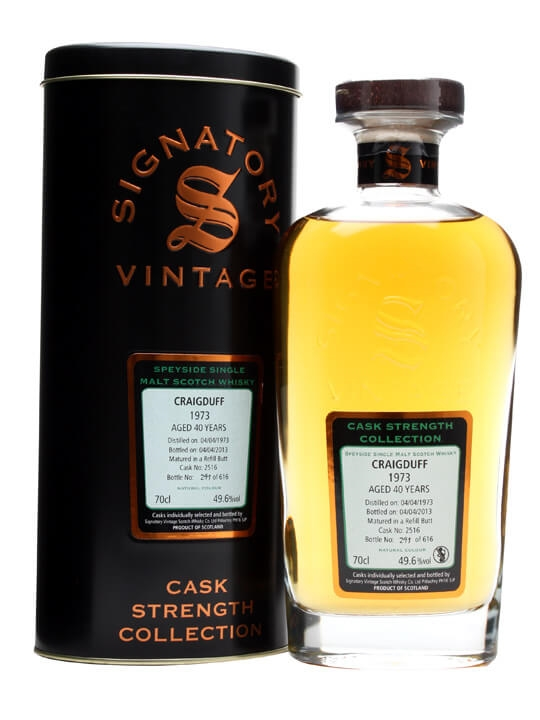Craigduff 1973 / 40 Year Old / Butt #2516 Speyside Whisky