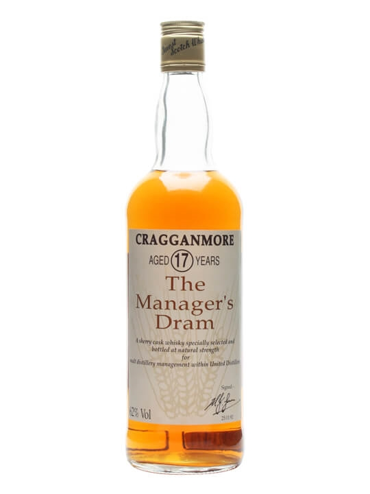 Cragganmore 17 Year Old  Manager&39s Dram Speyside Whisky
