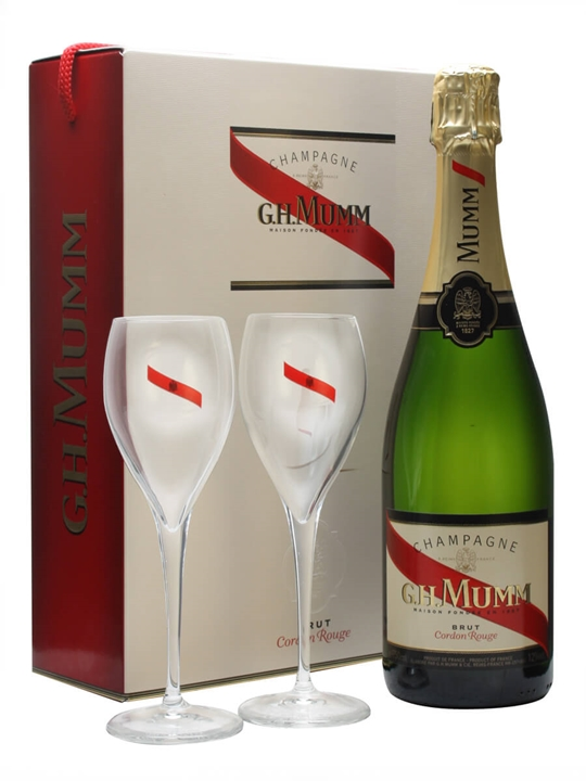 Mumm Cordon Rouge NV and 2 Glass Pack