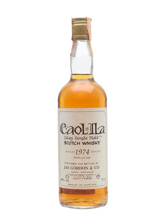 Caol Ila 1974 / Bot.1989 / Jas Gordon Islay Single Malt Scotch Whisky