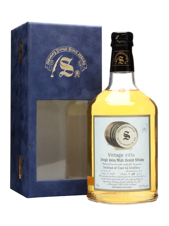 Caol Ila 1976 / 25 Year Old / Cask #8086 / Signatory Islay Whisky