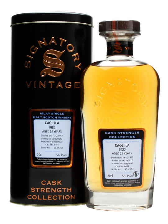 Caol Ila 1982 / 29 Year Old / Cask #6484 / Signatory Islay Whisky