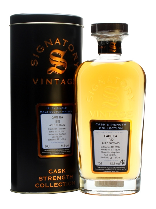 Caol Ila 1982 / 30 Year Old / Cask #6493 / Signatoty Islay Whisky