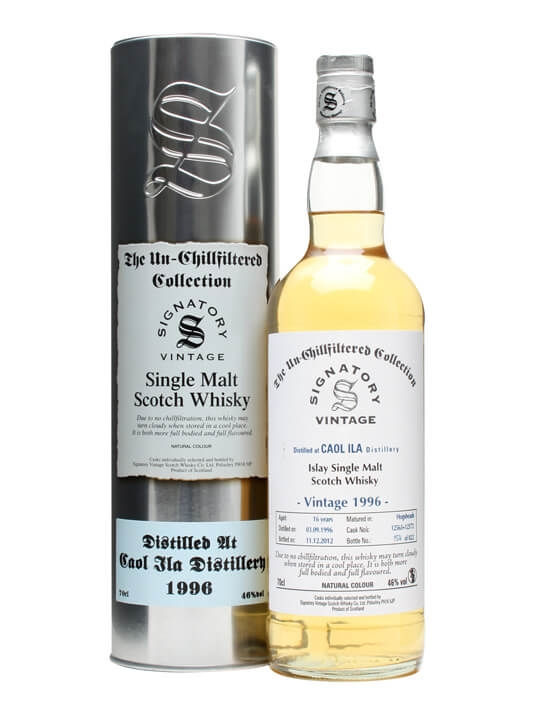 Caol Ila 1996 / 16 Year Old / Cask #12563+72 / Signatory Islay Whisky