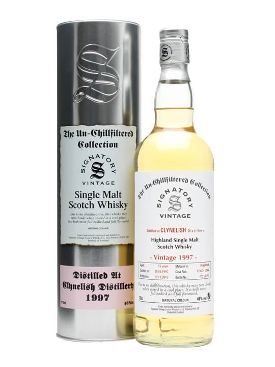 Clynelish 1997 / 15 Year Old / Cask #12365+6 / Signatory Highland Whisky