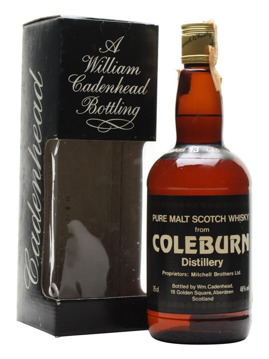 Coleburn 13 Year Old / Cadenhead's Speyside Single Malt Scotch Whisky