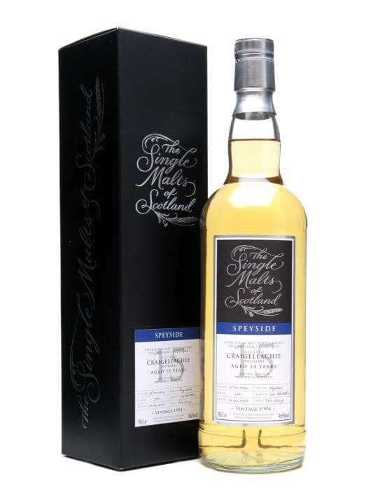 Craigellachie 1994 / 15 Year Old / Single Malts Of Scotland Speyside Whisky