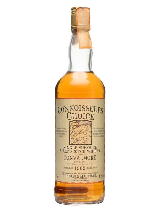 Convalmore 1969 / Map Label / Connoisseurs Choice Speyside Whisky