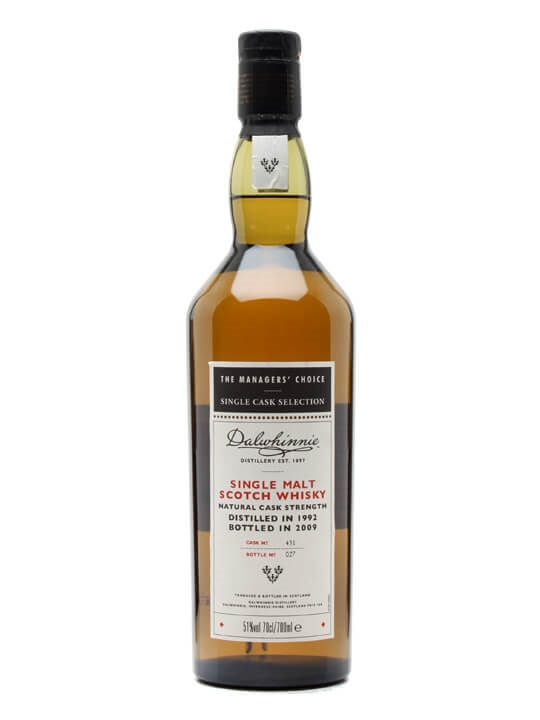 Dalwhinnie 1992 Managers' Choice Speyside Single Malt Scotch Whisky
