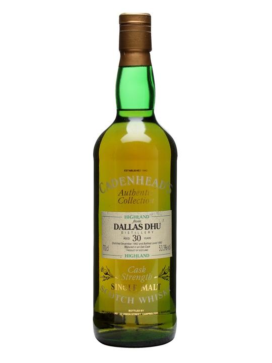 Dallas Dhu 1962 / 30 Year Old / Cadenhead's Speyside Whisky