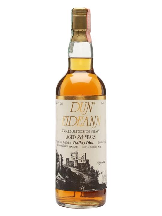 Dallas Dhu 1978 / 20 Year Old / Dun Eideann Speyside Whisky