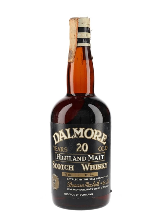 Dalmore 20 Year Old / Bot.1960s Highland Single Malt Whisky