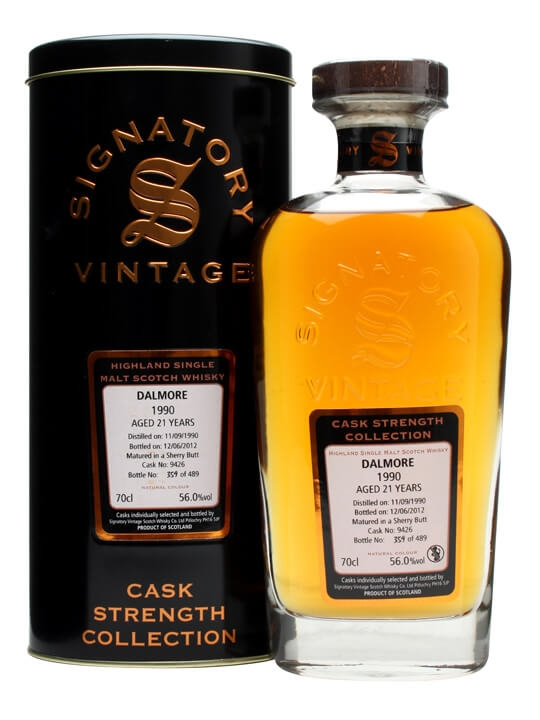 Dalmore 1990 / 21 Year Old / Sherry Butt #9426 / Signatory Highland Whisky