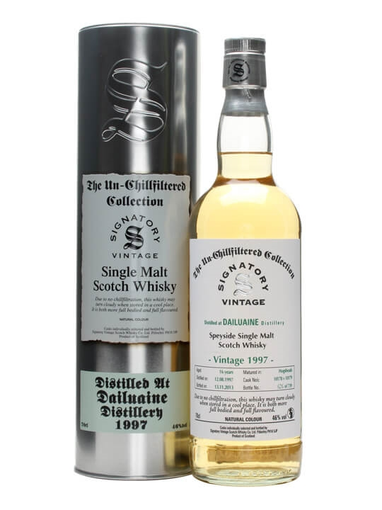 Dailuaine 1997 / 16 Year Old / Cask 10178+9 / Signatory Speyside Whisky