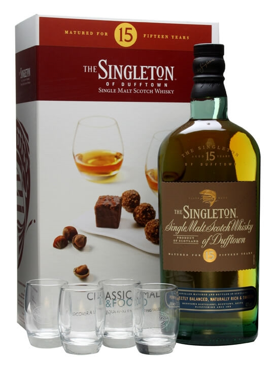Singleton Of Dufftown 15 Year Old Classic Malts & Food Pack Speyside Whisky