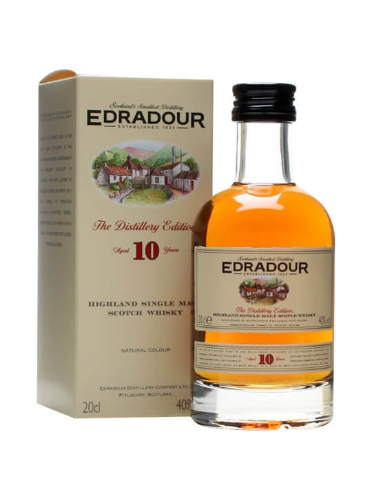 Edradour 10 Year Old / Small Bottle Highland Single Malt Scotch Whisky