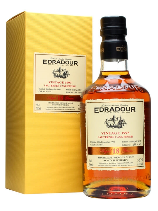Edradour 1993 / 18 Year Old / Sauternes Cask Finish #8/737/4 Highland Whisky