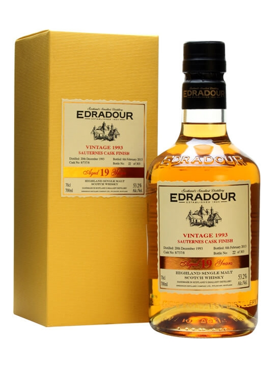 Edradour 1993 / 19 Year Old / Sauternes Finish/ Cask 8/737/8 Highland Whisky