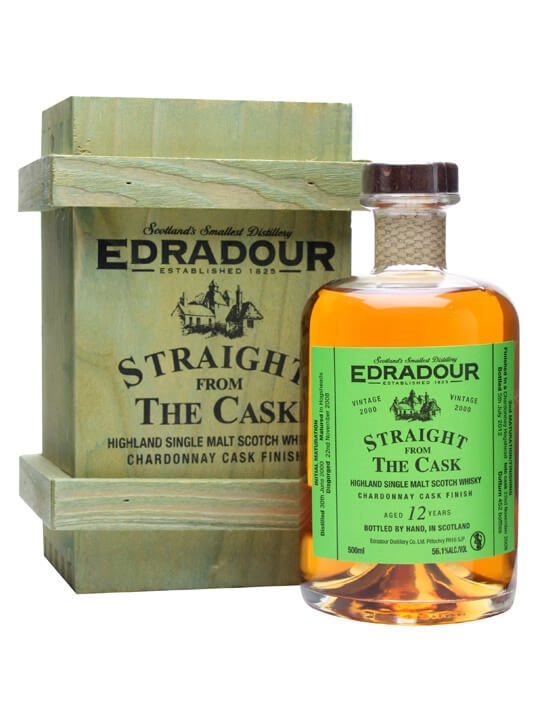 Edradour 2000 / 12 Year Old / Chardonnay Finish Highland Whisky
