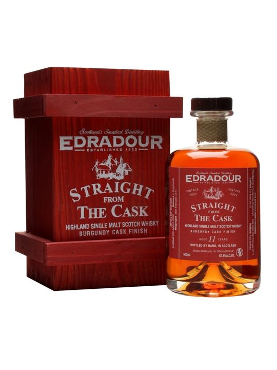 Edradour 2002 / 11 Year Old / Burgundy Finish Highland Whisky