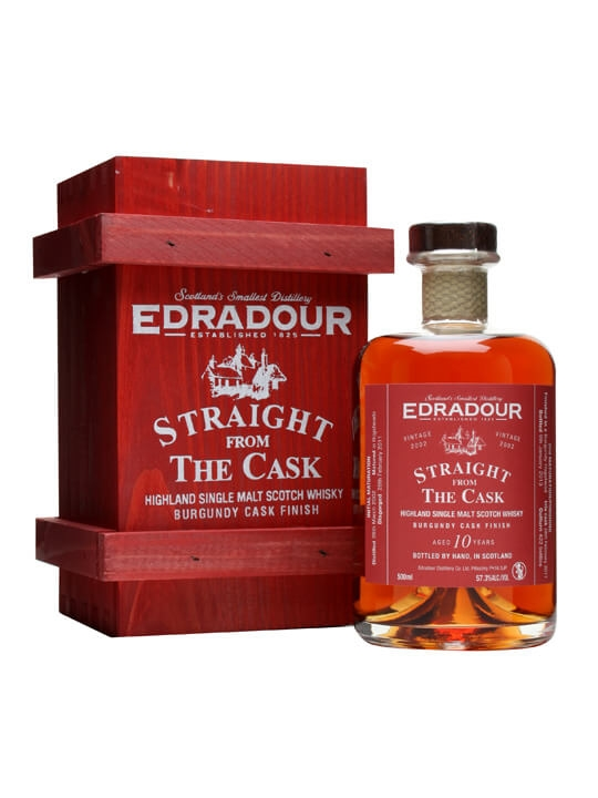 Edradour 2002 / 10 Year Old / Burgundy Finish Highland Whisky