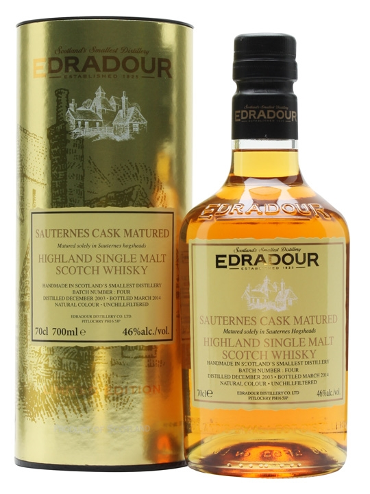 Edradour 2003 / Sauternes Cask / Batch 1 Highland Whisky