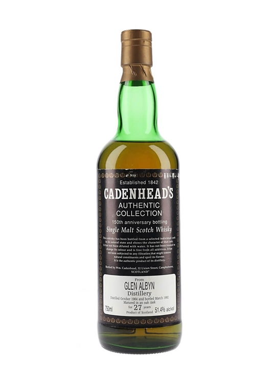 Glen Albyn 1964 / 27 Year Old / 150th Anniversary Highland Whisky
